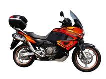 Vista laterale del motociclo isolata Fotografia Stock