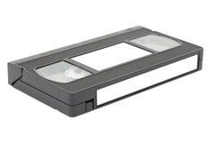 Vista laterale del nastro magnetico di VHS con i contrassegni Immagini Stock Libere da Diritti