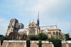 Vista laterale del Notre Dame Fotografia Stock