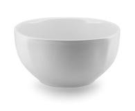 Vista laterale del piatto del piatto della sfera su fondo bianco Immagine Stock