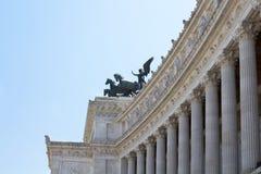 Vista laterale dell'altare della patria Fotografie Stock