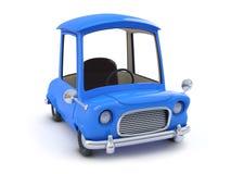 vista laterale dell'automobile blu del fumetto 3d Fotografia Stock Libera da Diritti
