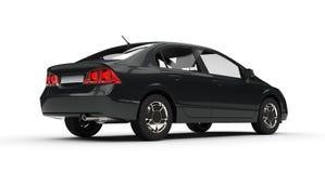 Vista laterale dell'automobile nera di affari Fotografia Stock