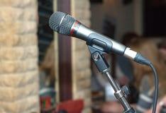 Vista laterale dell'interno del microfono vocale Fotografie Stock Libere da Diritti