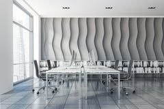 Vista laterale dell'ufficio open space del modello di Wave illustrazione di stock