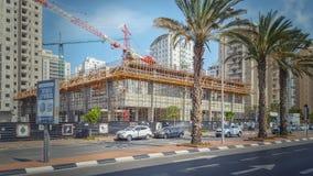 Vista laterale della costruzione del centro commerciale Fotografia Stock