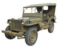 Vista laterale della jeep americana di WWII Fotografia Stock Libera da Diritti