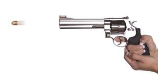 Vista laterale della pistola della fucilazione Immagini Stock Libere da Diritti