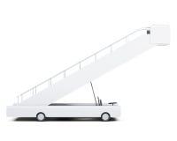Vista laterale della rampa mobile isolata su fondo bianco renderin 3D Immagini Stock