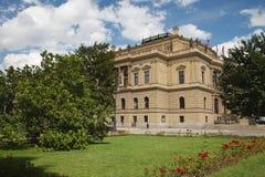 Vista laterale della sala da concerto di Rudolfinum, Praga Fotografia Stock