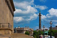 Vista laterale della st Georges Hall Liverpool Regno Unito Immagini Stock Libere da Diritti