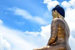 Vista laterale della statua di Buddha Dordenma Fotografia Stock
