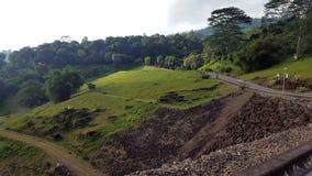 Vista laterale della strada in Gampola, Sri Lanka Immagine Stock