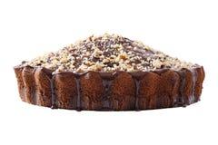 Vista laterale della torta lustrata e spruzzata Fotografia Stock Libera da Diritti