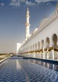 Vista laterale dello sceicco Zayed Mosque Fotografia Stock
