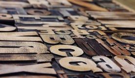 Vista laterale dello scritto tipografico Fotografia Stock Libera da Diritti
