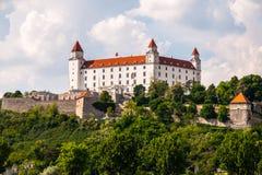 Vista laterale di Bratislava Castle Immagine Stock