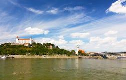 Vista laterale di Bratislava Castle Immagine Stock Libera da Diritti