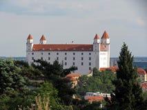 Vista laterale di Bratislava Castle Fotografie Stock Libere da Diritti