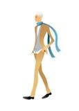 Vista laterale di camminare dell'uomo illustrazione vettoriale