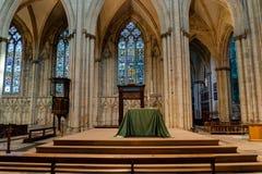 Vista laterale di destra dell'altare di York Minster HDR Fotografia Stock Libera da Diritti
