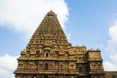 Vista laterale di grande tempio di Thanjavur immagine stock