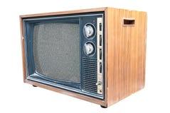 Vista laterale di retro TV Immagine Stock Libera da Diritti