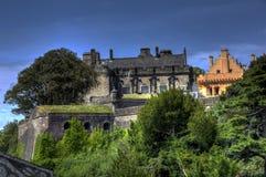 Vista laterale di Stirling Castle fotografie stock