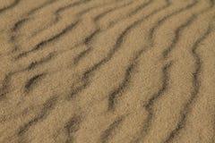 Vista laterale di struttura della sabbia, luce dorata fotografia stock libera da diritti