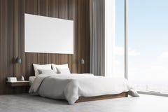 Vista laterale di un letto matrimoniale royalty illustrazione gratis