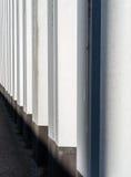 Vista laterale di una parete del tunnel fotografia stock