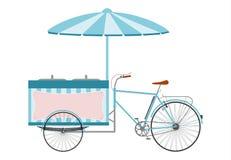 La bici del gelato. illustrazione di stock