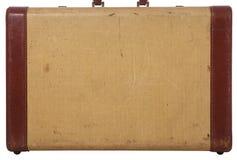 Vista laterale di vecchia valigia per un fondo Immagini Stock Libere da Diritti
