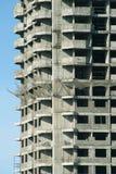 Vista laterale fronta e della parte della costruzione della costruzione Immagine Stock
