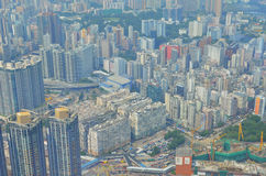 Vista laterale Hong Kong di Kowloon Fotografia Stock