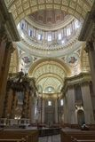Vista laterale interna di Montreal della cattedrale fotografia stock