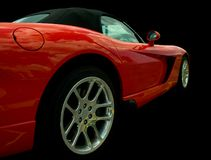 Vista laterale rossa dell'automobile sportiva Fotografia Stock Libera da Diritti