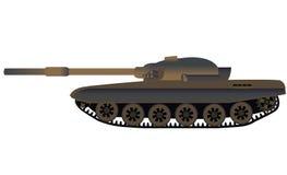 Vista laterale russa del carro armato T-72 Immagini Stock