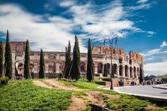 Vista laterale sul Colosseo Fotografia Stock Libera da Diritti