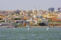 Vista a Lisbona Portogallo Fotografia Stock