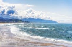 Vista litoral da parte superior do cabo Kiwanda fotografia de stock royalty free
