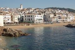 Vista litoral de Calella de Palafrugell imagem de stock royalty free