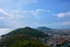 Vista litoral de Vung Tau, Vietname imagem de stock royalty free