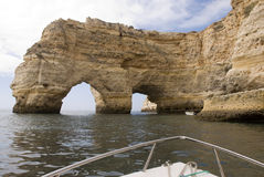 Vista litoranea in Algarve Fotografie Stock Libere da Diritti