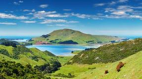 Vista litoranea, Nuova Zelanda Immagini Stock
