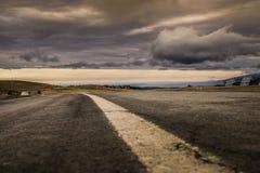 Vista livellata dell'asfalto Fotografia Stock Libera da Diritti