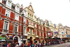 Vista Londra Regno Unito del viale di Shaftesbury Fotografie Stock