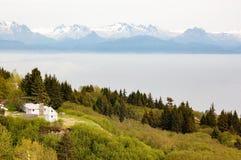 Vista lontana del parco nazionale e della prerogativa di Katmai Immagine Stock