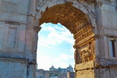 Vista lontana dell'altare di Vittorio Emanuele II del monumento del Fath Fotografia Stock