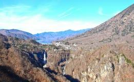 Vista lontana della cascata di Kegon Fotografia Stock Libera da Diritti